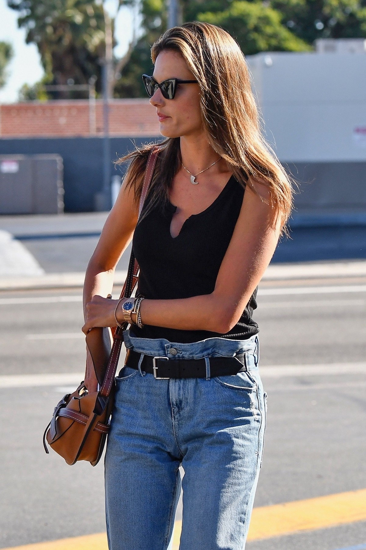 Alessandra Ambrosio in Black Top and Blue Jeans out in Los Angeles 2019/11/18 31