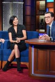 Alex Wagner and John Heilemann attend The Late Show with Stephen Colbert in Manhattan 2019/11/20 2
