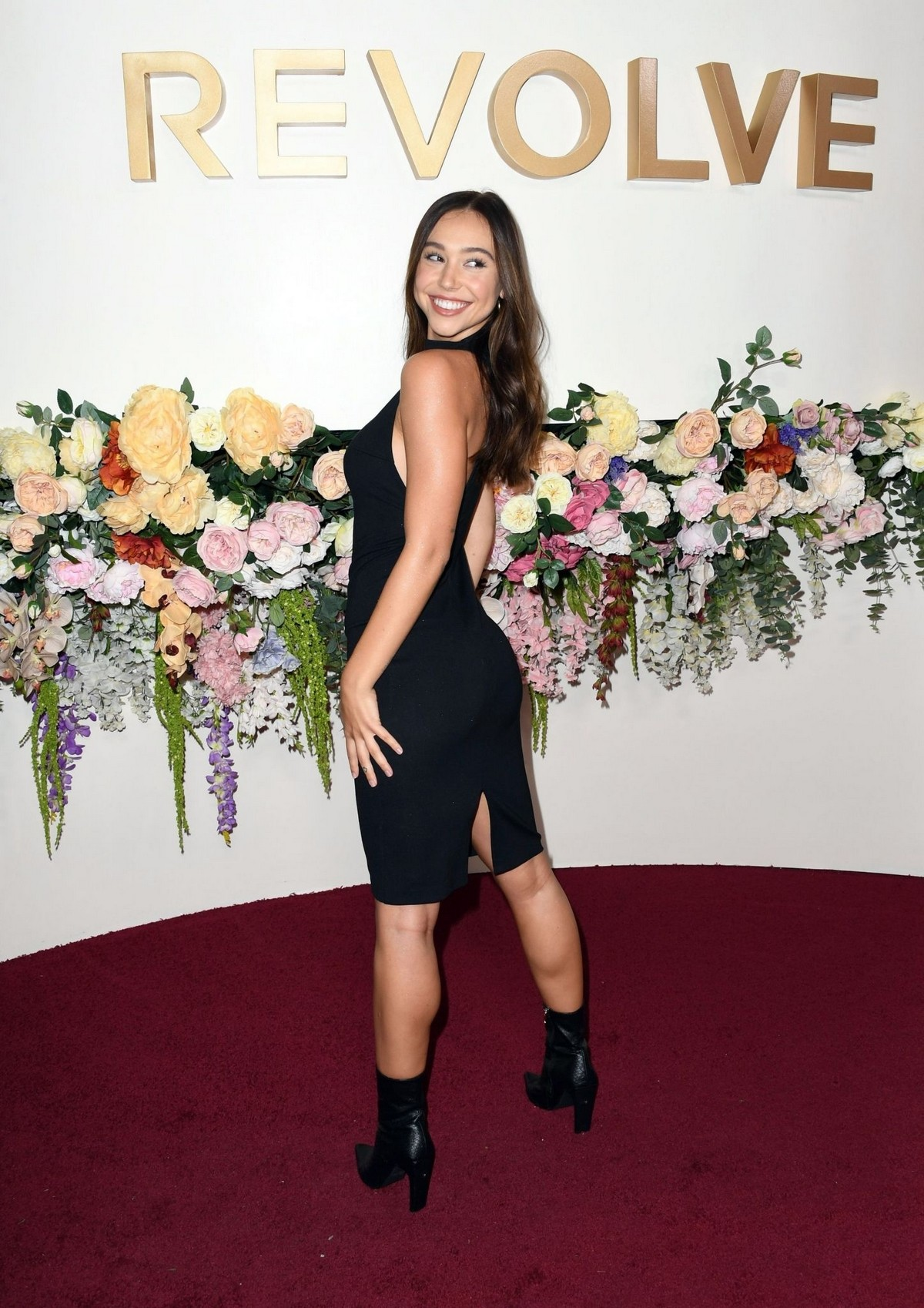 Alexis Ren in Black Dress at 3rd Annual #Revolve Awards in Hollywood 2019/11/15 1