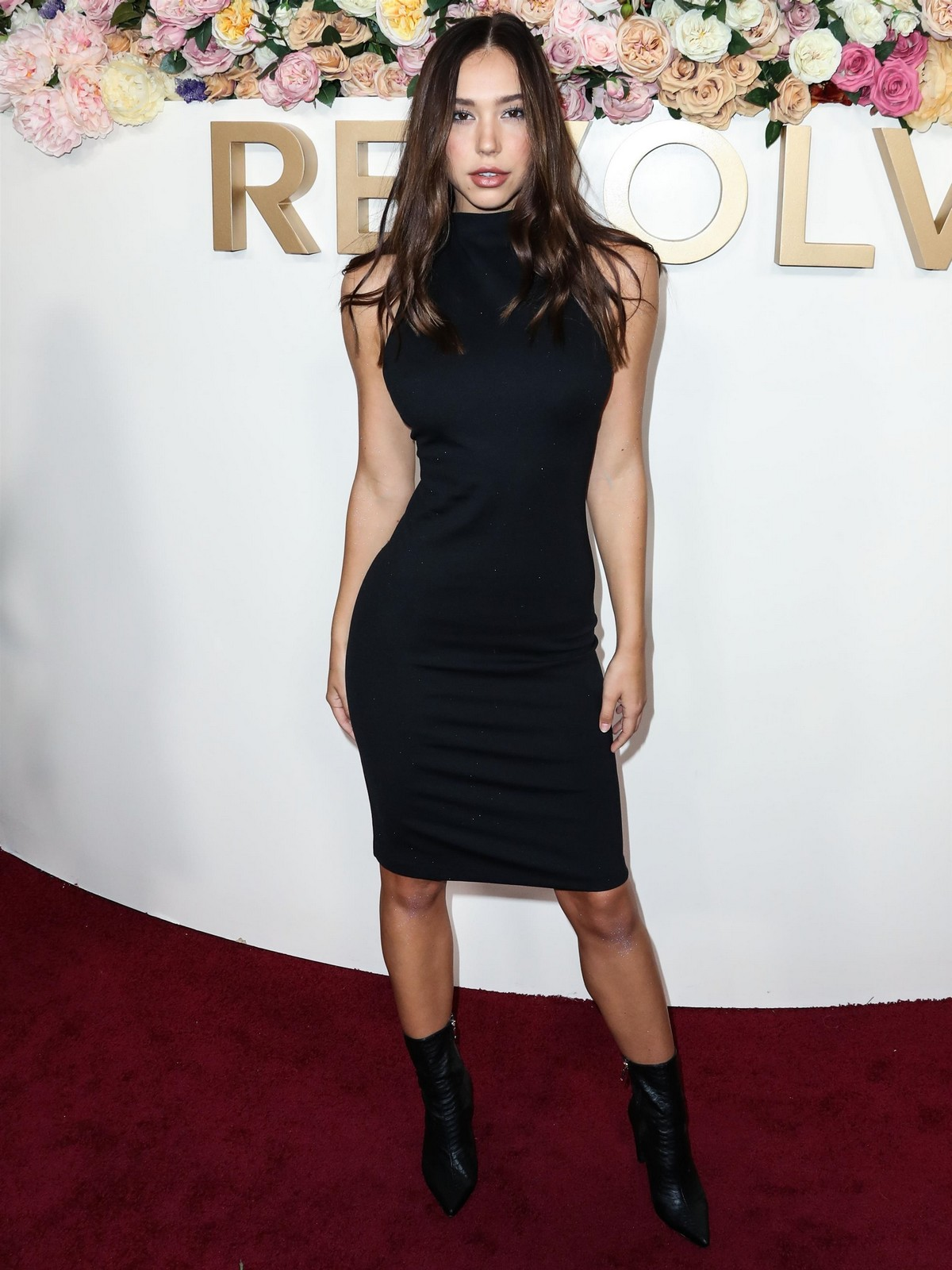Alexis Ren in Black Dress at 3rd Annual #Revolve Awards in Hollywood 2019/11/15 11