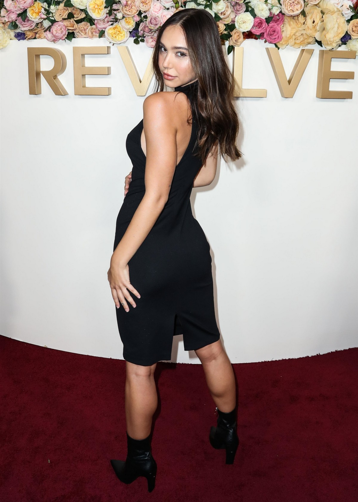 Alexis Ren in Black Dress at 3rd Annual #Revolve Awards in Hollywood 2019/11/15 12