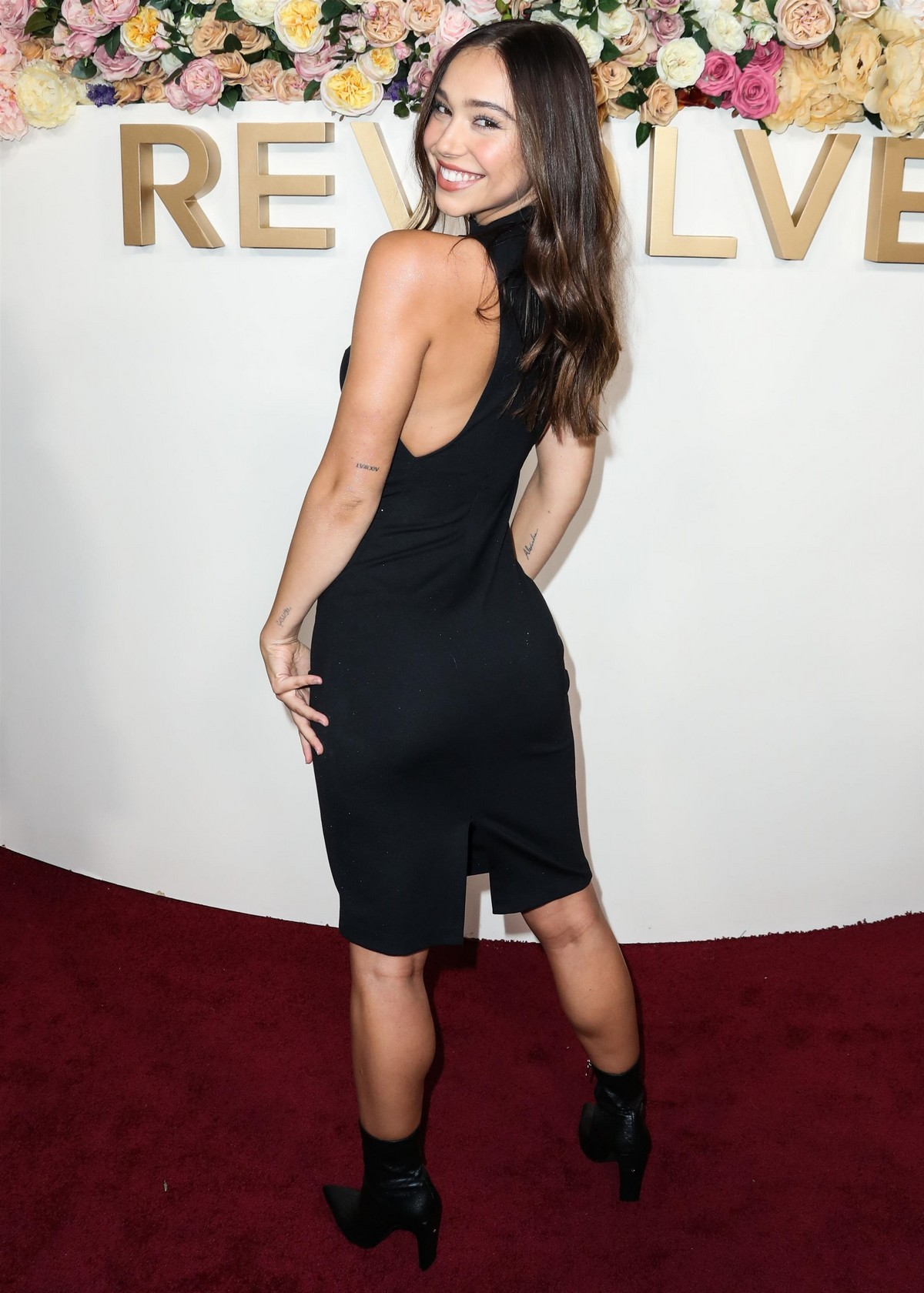 Alexis Ren in Black Dress at 3rd Annual #Revolve Awards in Hollywood 2019/11/15 13