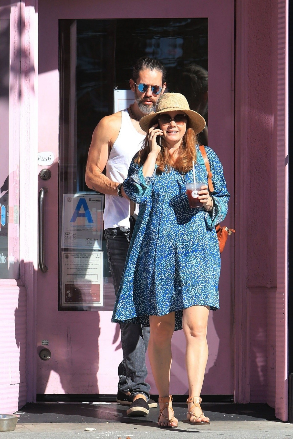 Amy Adams with her husband Darren Le Gallo out in Beverly Hills 2019/11/17 2