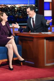 Amy Klobuchar attends The Late Show with Stephen Colbert in Manhattan 2019/11/05 2