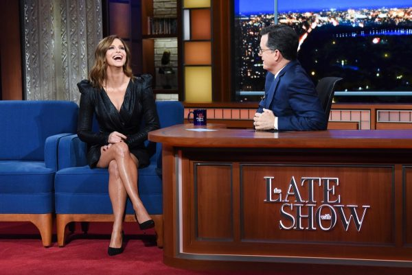 Andrea Savage attends The Late Show with Stephen Colbert 2019/10/23 2