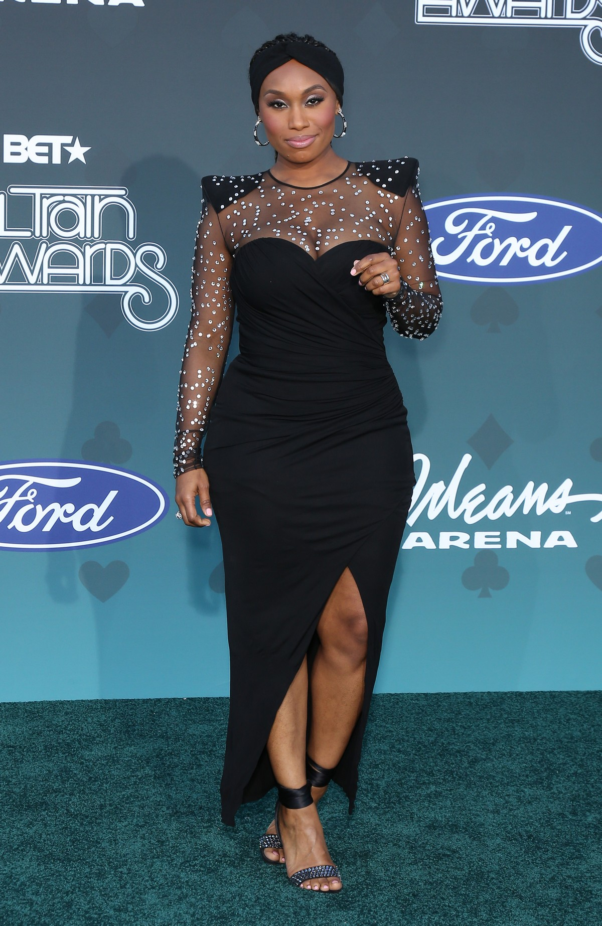 Angell Conwell attends 2019 Soul Train Awards at Orleans Arena in Las Vegas 2019/11/17 2