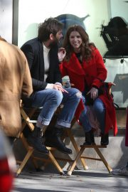 Anna Kendrick and Nick Thune on the set of 'Love Life' in New York 2019/11/01 1