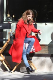 Anna Kendrick and Nick Thune on the set of 'Love Life' in New York 2019/11/01 2