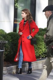 Anna Kendrick and Nick Thune on the set of 'Love Life' in New York 2019/11/01 4