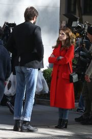 Anna Kendrick and Nick Thune on the set of 'Love Life' in New York 2019/11/01 5
