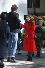 Anna Kendrick and Nick Thune on the set of 'Love Life' in New York 2019/11/01 6