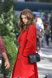 Anna Kendrick and Nick Thune on the set of 'Love Life' in New York 2019/11/01 9