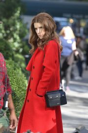 Anna Kendrick and Nick Thune on the set of 'Love Life' in New York 2019/11/01 10