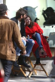Anna Kendrick and Nick Thune on the set of 'Love Life' in New York 2019/11/01 12