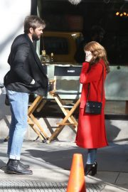 Anna Kendrick and Nick Thune on the set of 'Love Life' in New York 2019/11/01 17