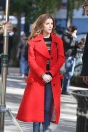 Anna Kendrick and Nick Thune on the set of 'Love Life' in New York 2019/11/01 19