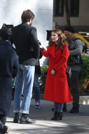 Anna Kendrick and Nick Thune on the set of 'Love Life' in New York 2019/11/01 20