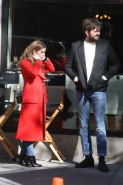 Anna Kendrick and Nick Thune on the set of 'Love Life' in New York 2019/11/01 21