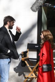 Anna Kendrick and Nick Thune on the set of 'Love Life' in New York 2019/11/01 22
