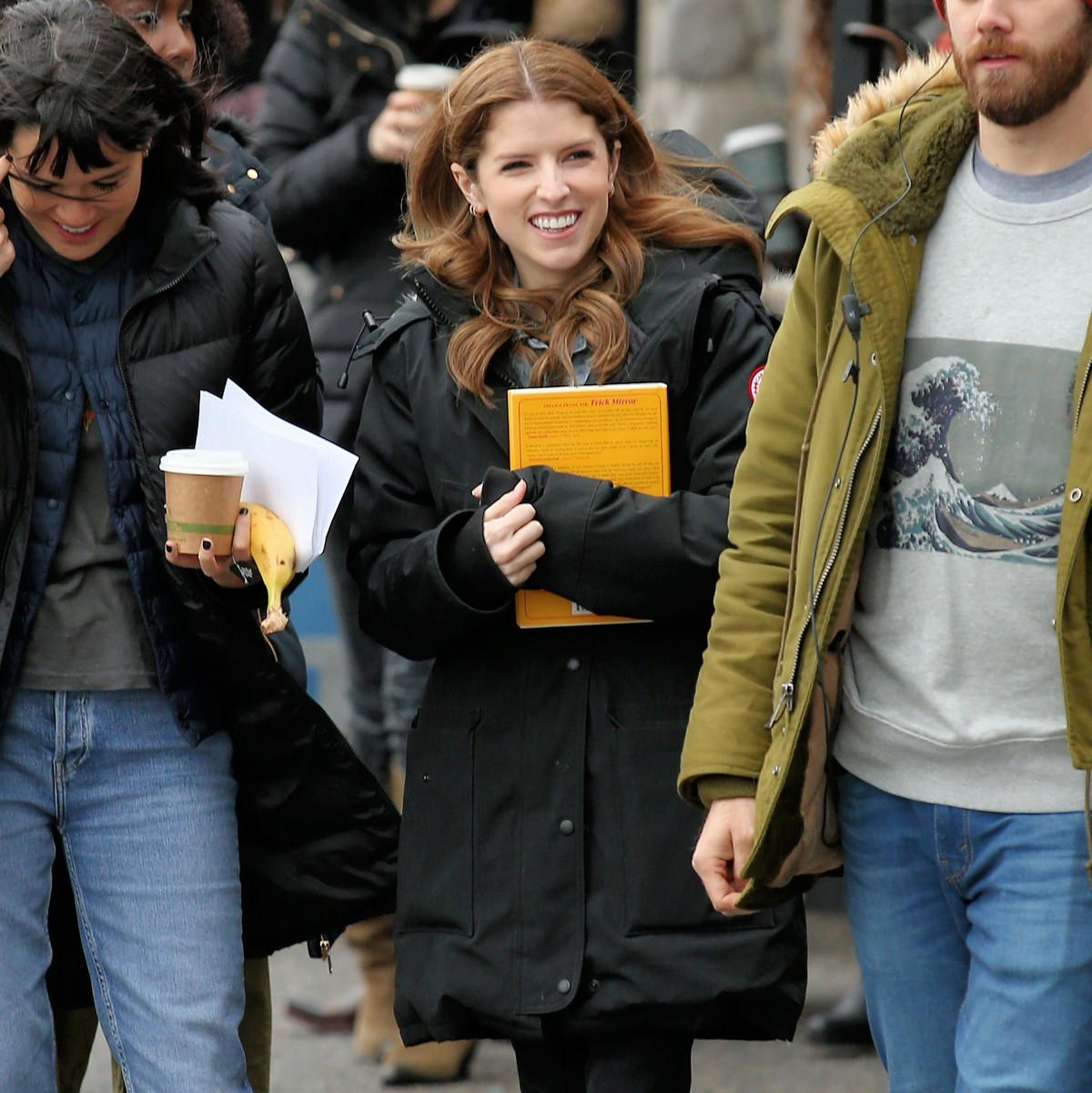 Anna Kendrick on the set of 'Love Life' filming in Brooklyn, New York 2019/11/18 2