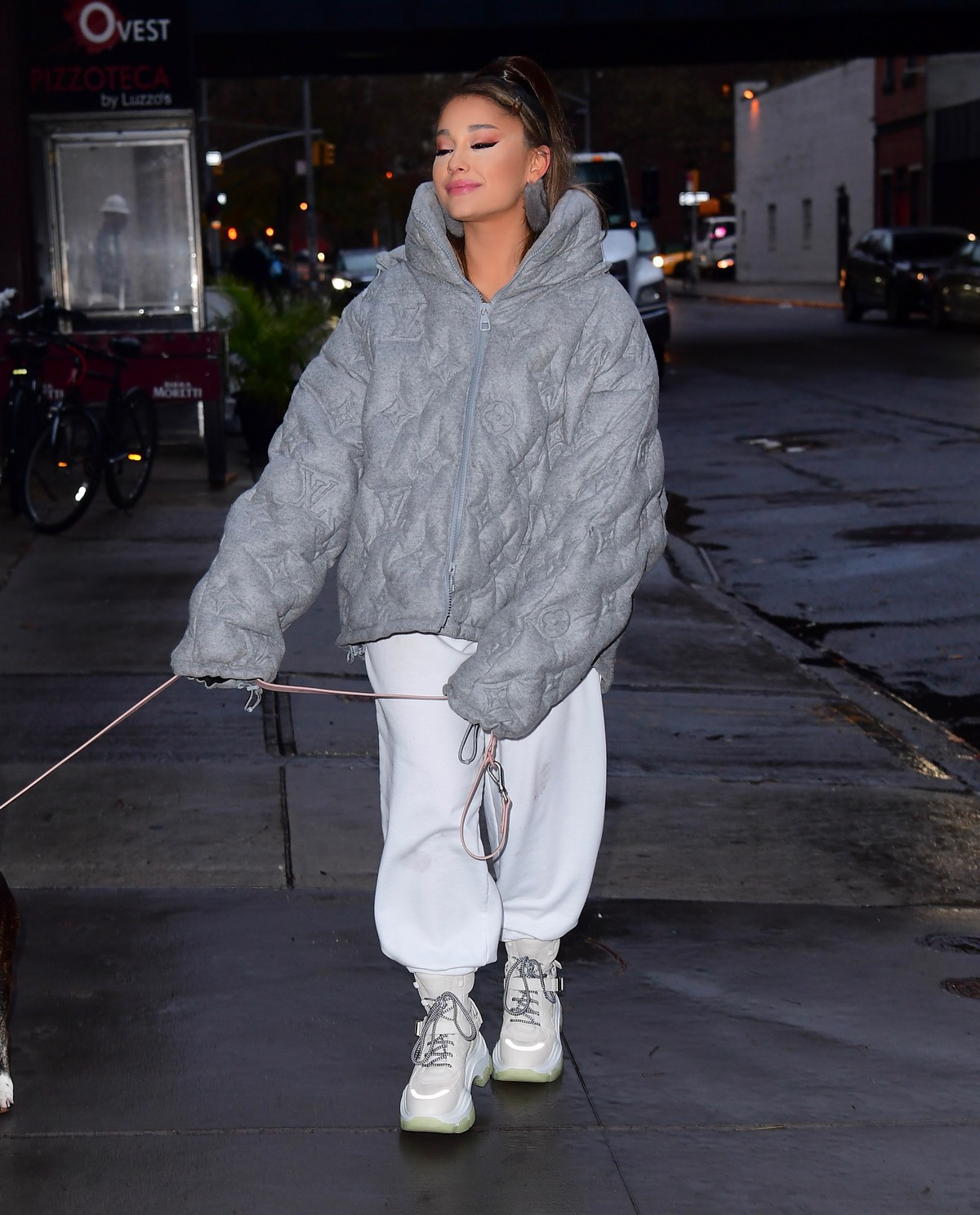 Ariana Grande walk with her dog out and about in New York City 2019/11/18 3