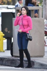 Ariel Winter seen in purple top and black bottom out in Los Angeles 2019/11/25 9