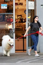 Ariel Winter seen with her dogs at a salon in Los Angeles 2019/11/04 13
