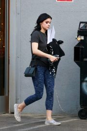 Ariel Winter seen with her dogs at a salon in Los Angeles 2019/11/04 15