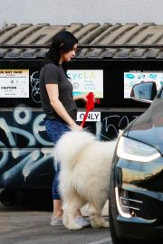 Ariel Winter seen with her dogs at a salon in Los Angeles 2019/11/04 21