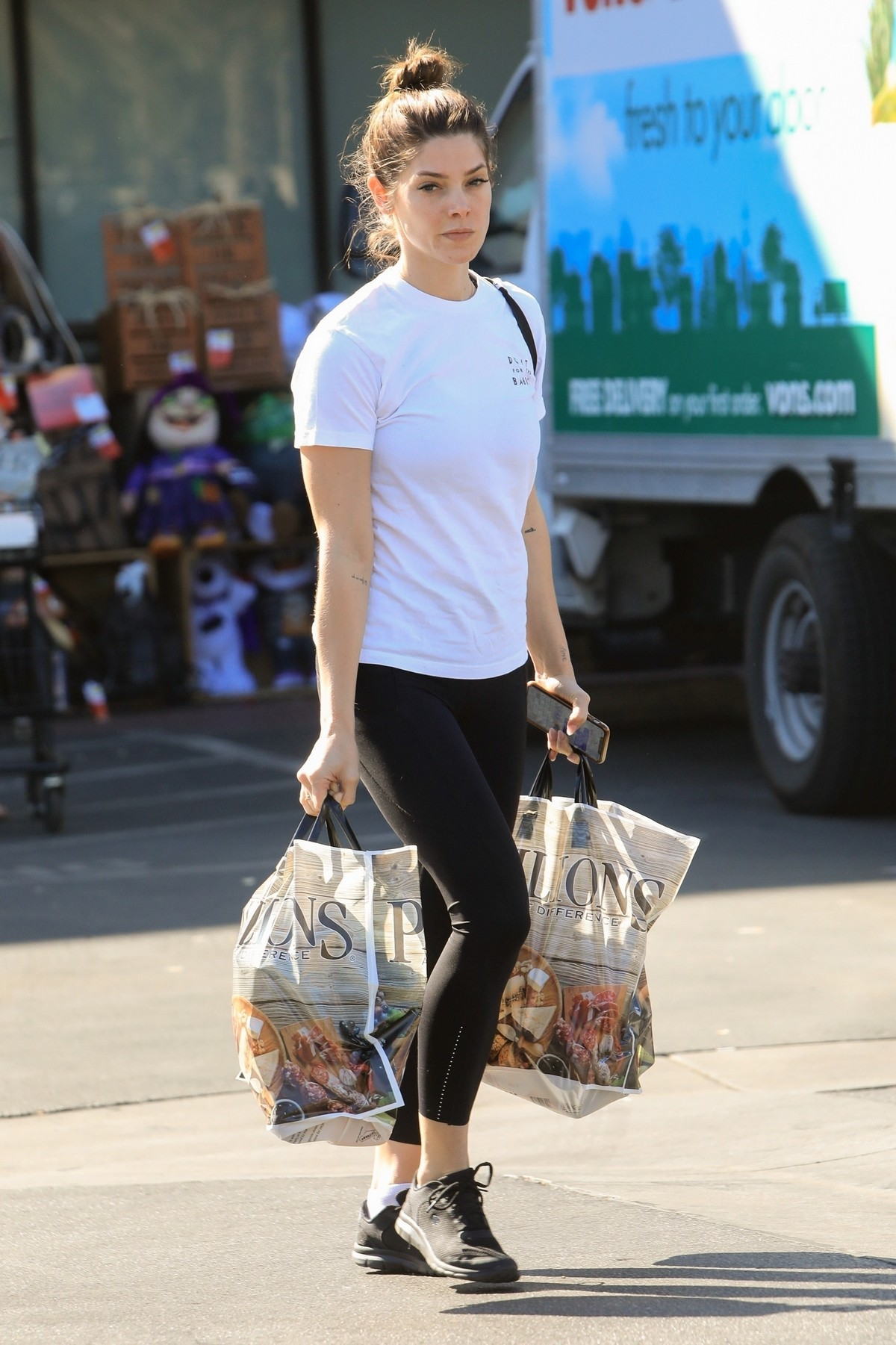 Ashley Greene in white top and tights Out in West Hollywood 2019/11/05 5