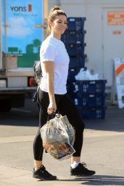 Ashley Greene in white top and tights Out in West Hollywood 2019/11/05 10