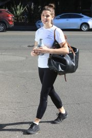Ashley Greene in white top and tights Out in West Hollywood 2019/11/05 11