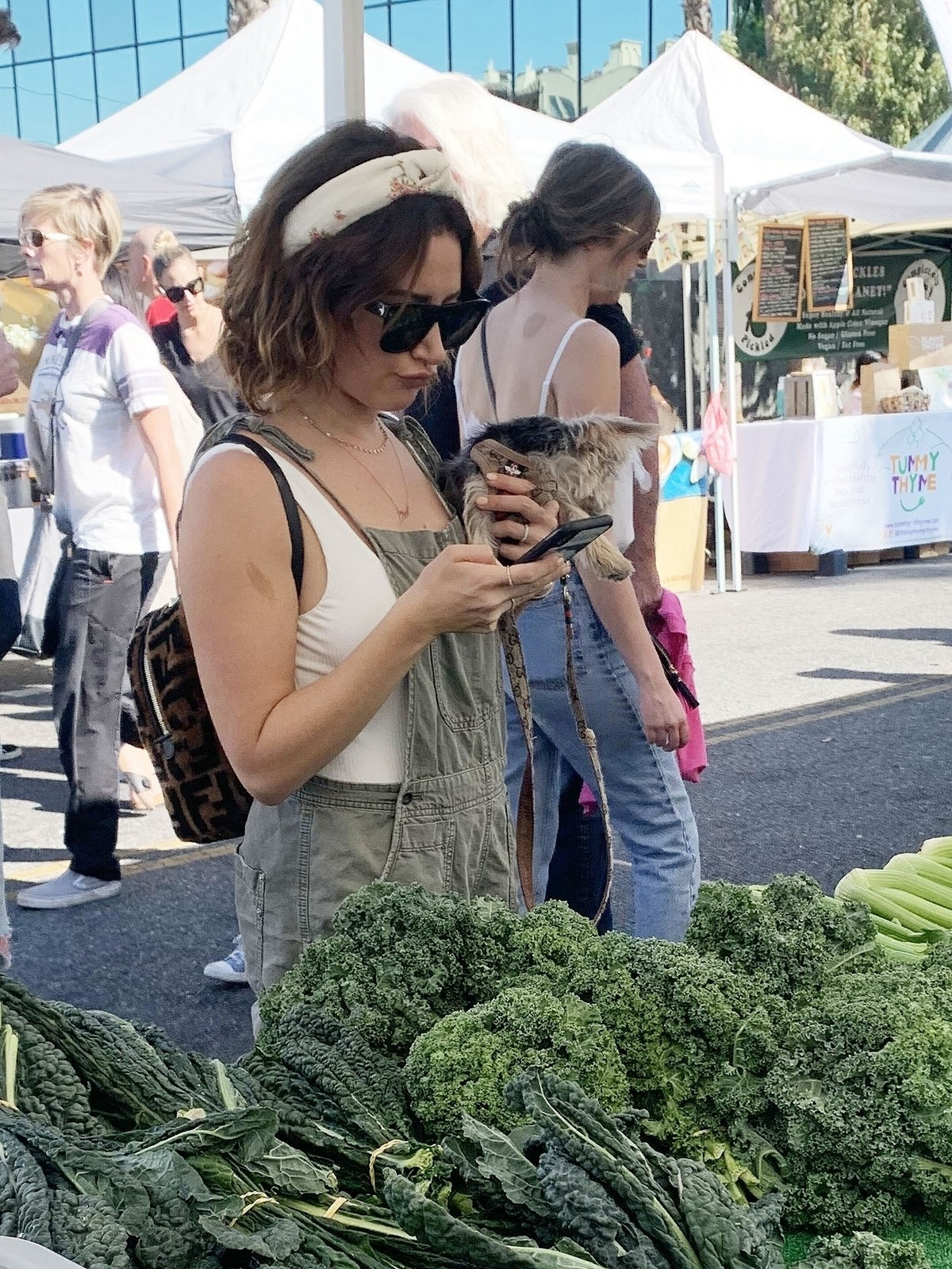 Ashley Tisdale at local farmers market in Los Angeles 2019/11/10 2