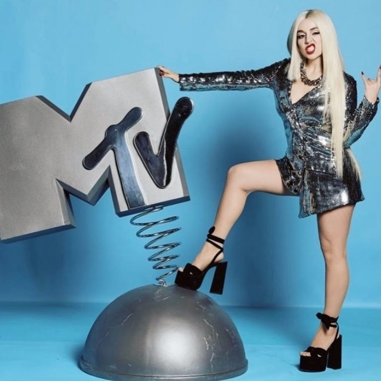 Ava Max arrives 2019 MTV Europe Music Awards in Seville, Spain 2019/11/03 6