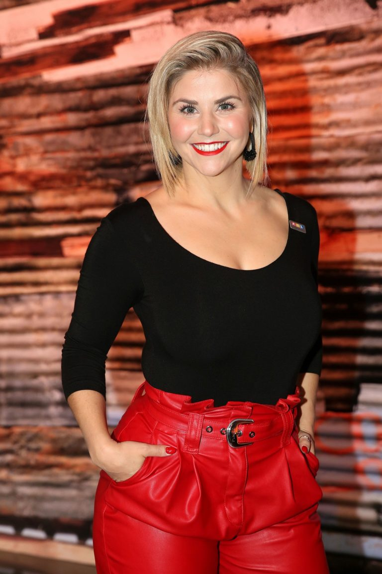 Beatrice Egli in Black and Red Outfit attends  RTL-Spendenmarathon in Hurth 2019/11/22 24