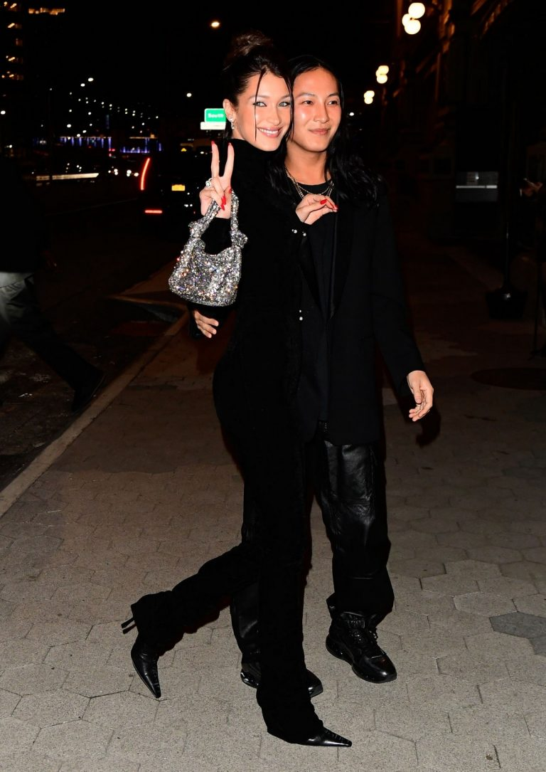 Bella Hadid and Alexander Wang arrives Cipriani in New York City 2019/11/04 4