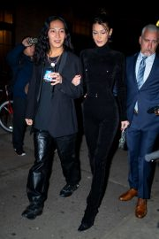 Bella Hadid and Alexander Wang arrives Cipriani in New York City 2019/11/04 10