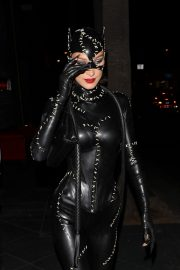 Bella Hadid leaves Kendall Jenner's 24th Birthday Party in Cat Woman Outfit in West Hollywood 2019/11/01 5