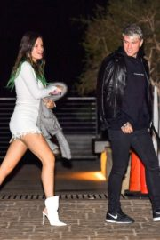 Bella Thorne flashes her legs with Benjamin Mascolo after a dinner date night out at Nobu in Malibu 2019/11/27 9