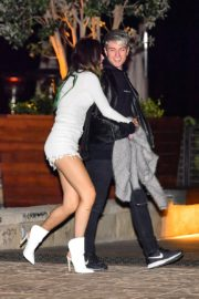 Bella Thorne flashes her legs with Benjamin Mascolo after a dinner date night out at Nobu in Malibu 2019/11/27 11