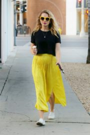 Bethany Joy Lenz in Black Top and Yellow Bottom Out in Los Angeles 2019/11/22 2