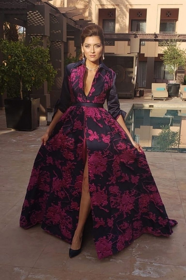Blanca Blanco in floral printed stylish dress at Marrakech International Film Festival in Morocco 2019/11/29 8