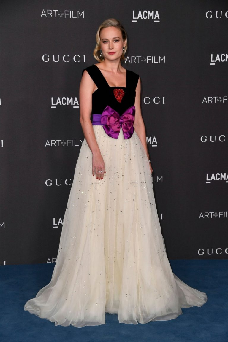 Brie Larson attends ACMA Art + Film Gala Honoring Betye Saar And Alfonso Cuaron Presented By Gucci 2019/11/02 17