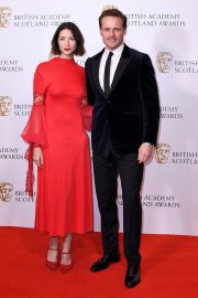 Caitriona Balfe and Sam Heughan attends the BAFTA in Scotland 2019/11/03 2