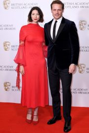 Caitriona Balfe and Sam Heughan attends the BAFTA in Scotland 2019/11/03 3
