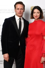 Caitriona Balfe and Sam Heughan attends the BAFTA in Scotland 2019/11/03 7