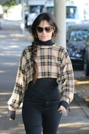Camila Cabello seen in checked top and tights Out in West Hollywood 2019/11/06 1
