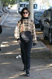 Camila Cabello seen in checked top and tights Out in West Hollywood 2019/11/06 3