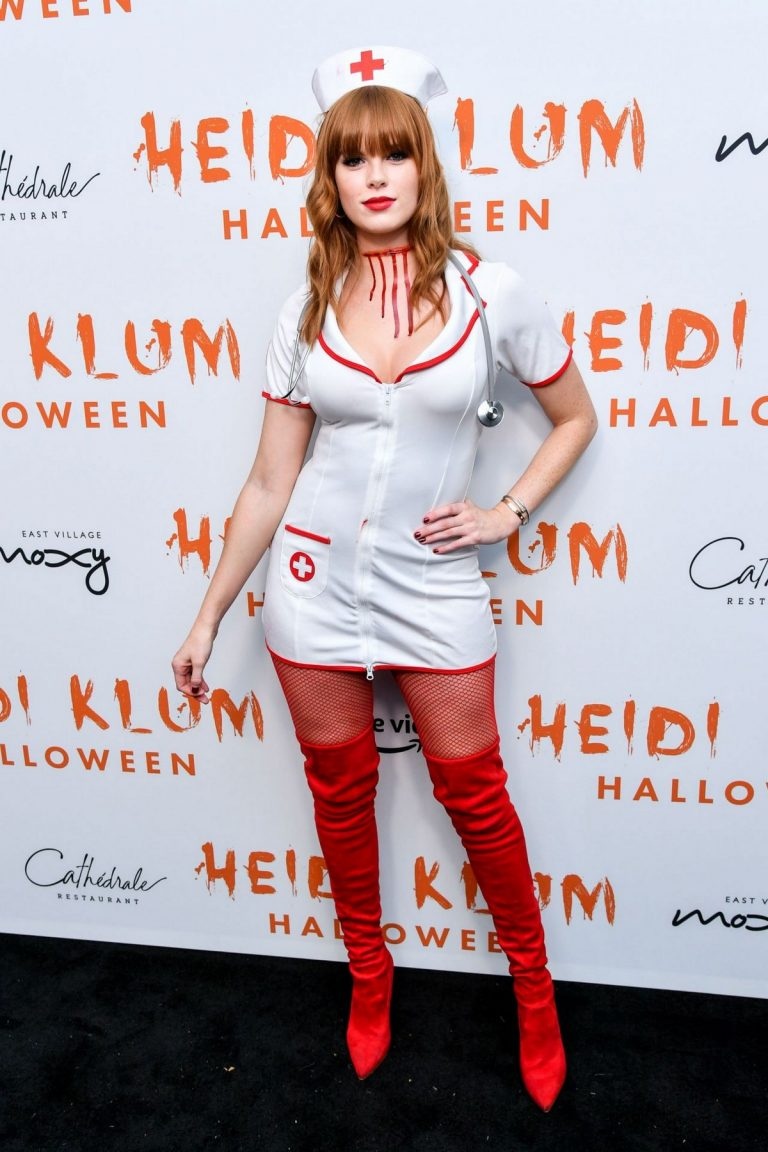 Caroline Silta attends Heidi Klum's 20th Annual Halloween Party in New York 2019/10/31 2