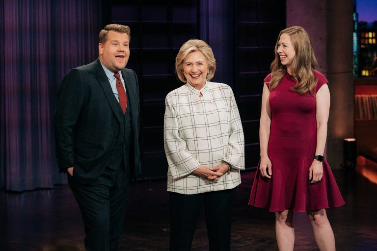 Chelsea and Hillary Clinton at The Late Late Show with James Corden in Hollywood 2019/11/05 3